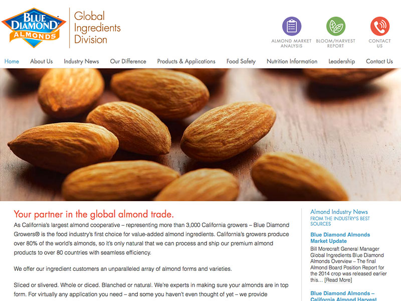 Blue Diamond Global Ingredients Division website