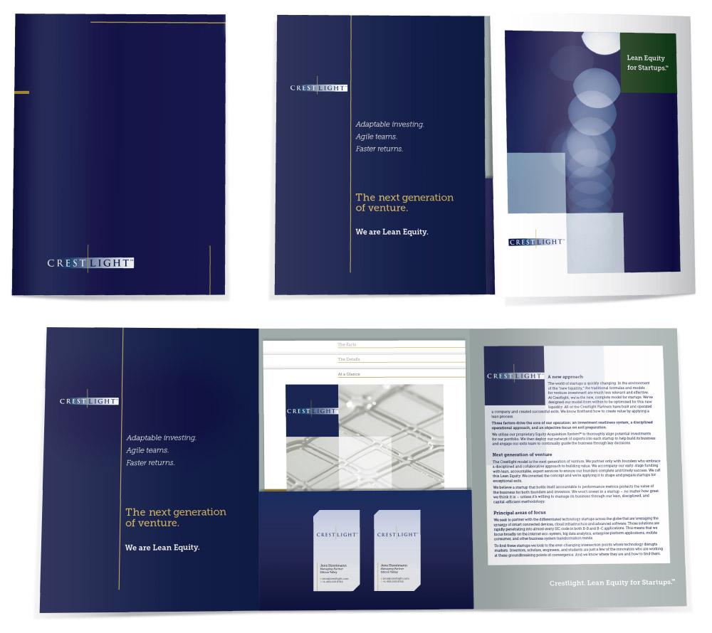 Crestlight folder brochure design