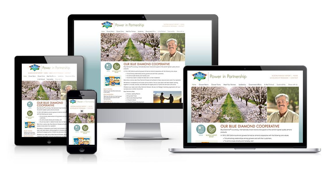 Blue Diamond Growers website