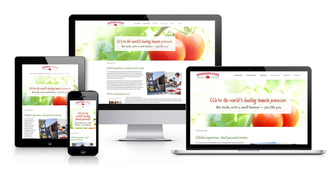Morning Star Tomato Kitchens responsive website