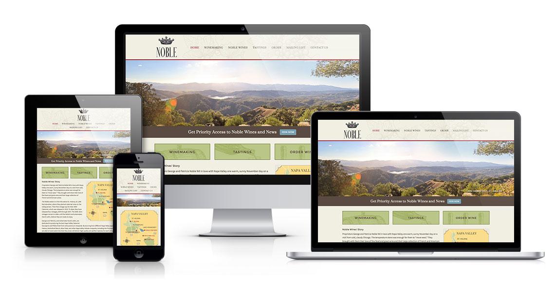 Noble Wines web design