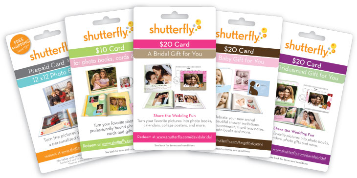 Shutterfly prepaid gift cards