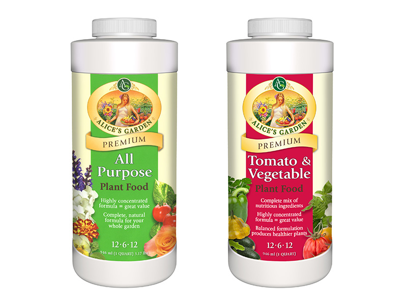 Alice's Garden Plant Food packaging