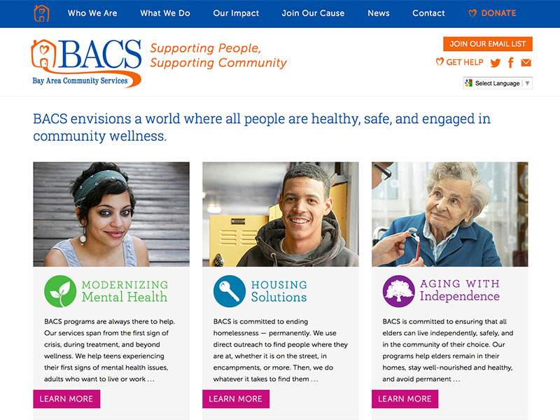 BACS website