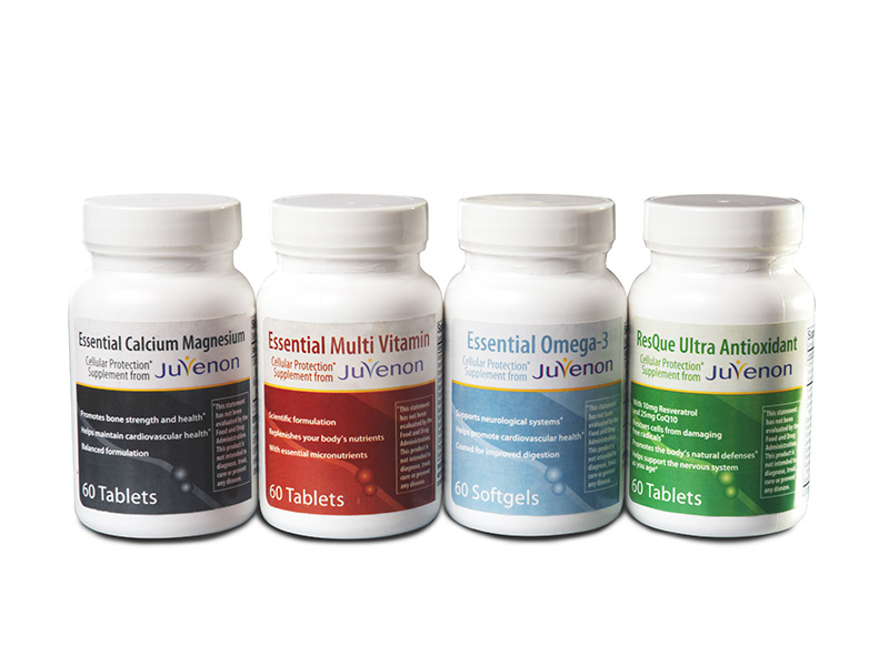 Juvenon health supplements packaging